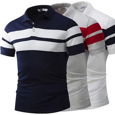 New Fashion Mens Short Sleeve Business Golf Simple Polo T-Shirt Shirts Top M-4XL