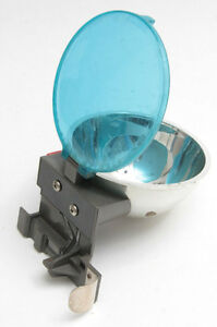 "Polaroid Flash J-5 with 3"" Reflector Blue Filter - Untested - Vintage D13"