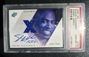 2000 SPX SHAUN ALEXANDER ROOKIE CARD RC AUTOGRAPH JERSEY SEATTLE SEAHAWKS PSA 10