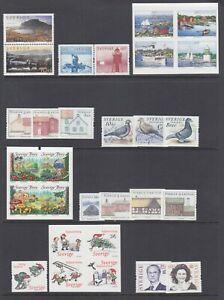 Sweden-Sc-2479-2483-2491-2494-2497-2499-2502-MNH-2004-05-issues-9-cplt-sets
