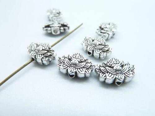 30//100pcs alloy charm lotus flower connector pendant styl restoring ancient 8081