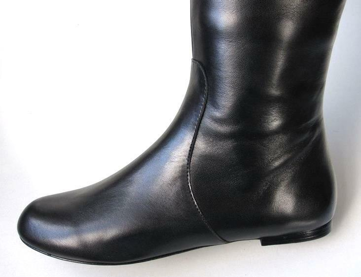New MARC JACOBS JACOBS JACOBS schwarz leather over-the-knee flat Stiefel - SUPER COMFORTABLE bcdef6