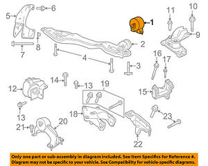 vw volkswagen oem 09 10 routan engine motor mount torque strut rh ebay com 2003 Volkswagen Passat Engine Diagram 2004 Volkswagen Passat Engine Diagram