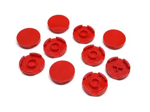 6066342 Lego Fliese rund 2 x 2 Rot 10 Stück