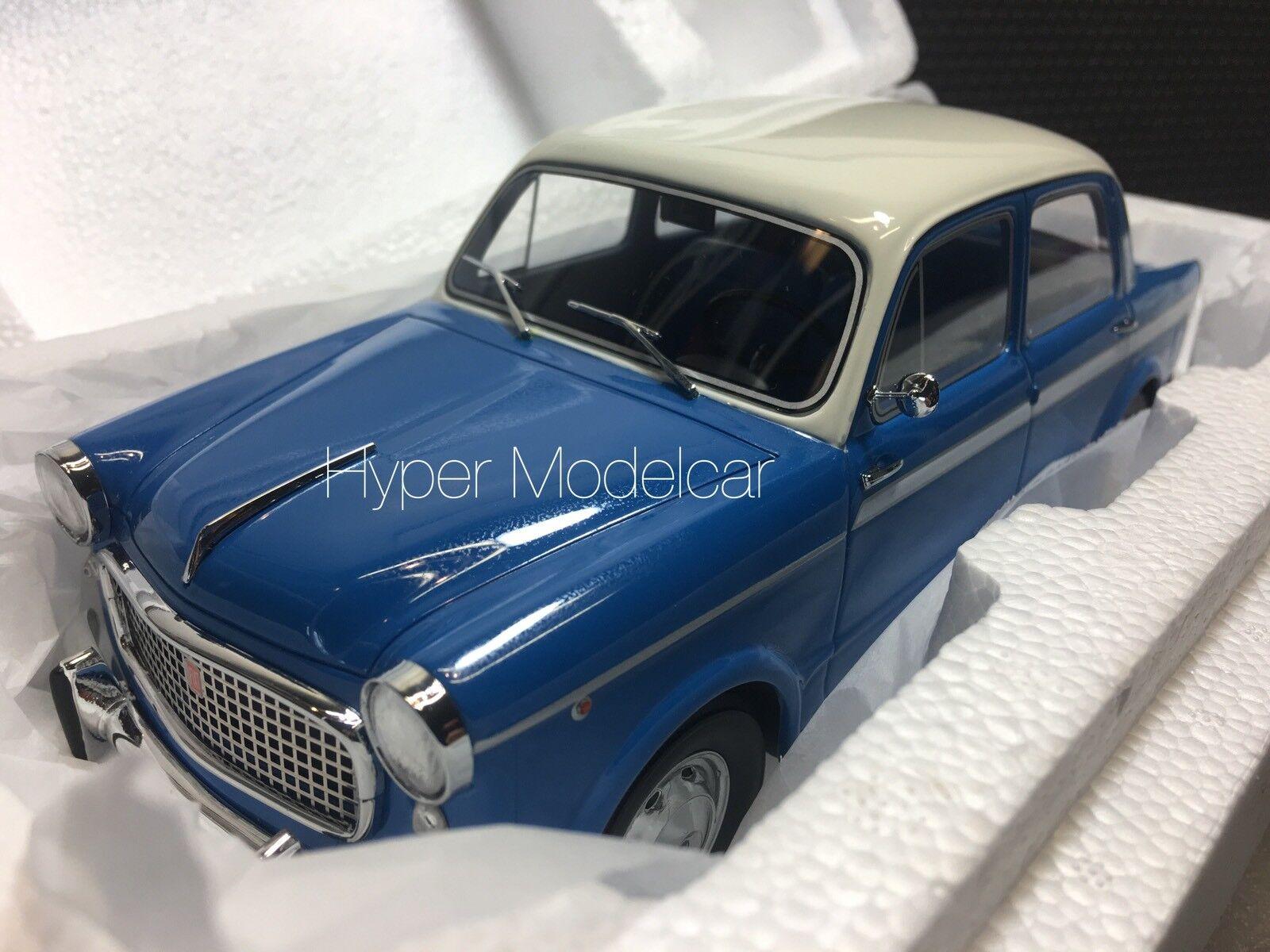 Célébrez Noël, accueillez le Nouvel An et vous le rend! rend! rend! BoS Models 1/18 Fiat 1100L Lusso 1959 Blue Art. BOS163 | Emballage élégant Et Robuste  b04f5e