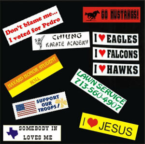 Set Custom Personalized Bumper Stickers Decals Full ColorWeather - Custom made bumper stickers
