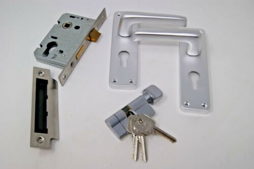 Euro cylindre//Turn Contrat de levier poignée de porte SAA pour 45 mm d/'épaisseur portes coupe-feu