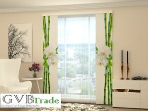 """Home & Garden New Fashion Schiebevorhang Schiebegardine Vorhang Gardine """"bambus"""" 3d Druck 60cm X 245cm Etc Curing Cough And Facilitating Expectoration And Relieving Hoarseness Curtains, Drapes & Valances"""