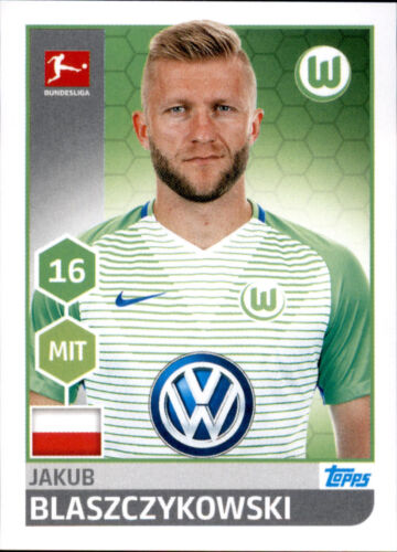 Jakub Blaszczykowski Sticker 268 TOPPS Bundesliga 2017//2018