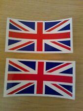 Union Jack Laminated Stickers 75 x 39mm x 2 vat inc Motorbike Helmet Car Van etc