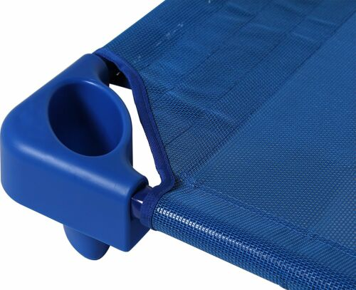 Day Care Cot 6pc Set Blue Portable Mesh Fabric Kids Bed Steel Frame Camping New