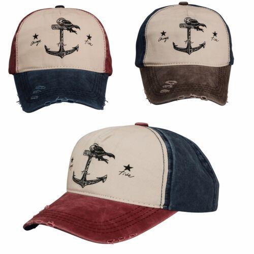 Men Women Baseball Cap Anchor Snap back  Outdoor Sports Hats Adjustable Vintage
