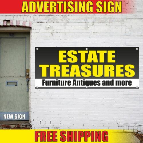 ESTATE TREASURES Furniture Antiques Advertising Banner Vinyl Mesh Decal Sign ART