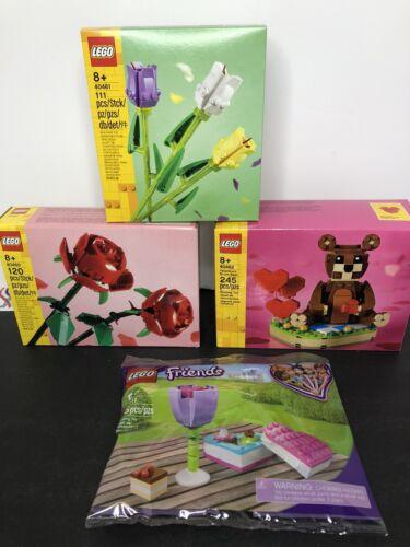 Tullips 40461 LEGO Valentine's Brown Bear 40462 Roses 40460 Friends 30411