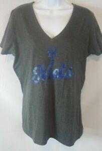 New-York-Mets-MLB-Women-039-s-V-Neck-T-Shirt-New-Free-Shipping