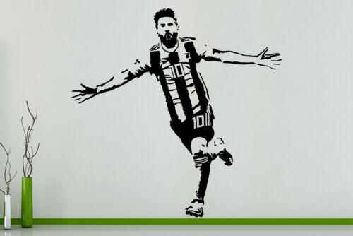 Lionel Messi Football Player Argentina Children/'s Bedroom Decal Wall Art Sticker