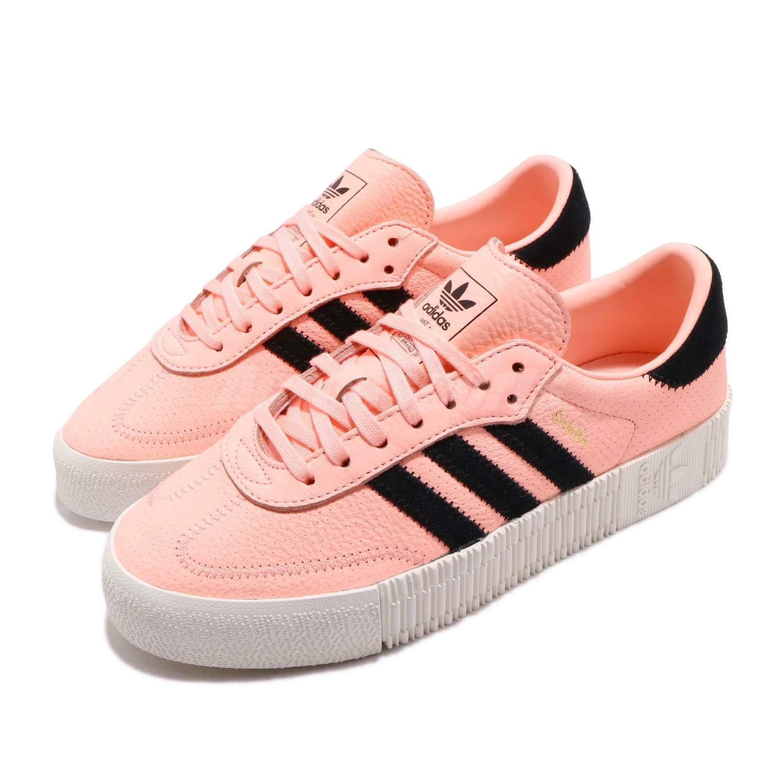 Adidas Originals Sambapink W orange Black Off White Women Platform shoes F34240