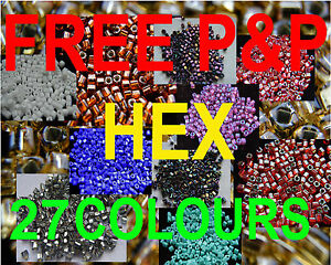 10G-SIZE-8o-GLASS-HEX-TOHO-SEED-BEADS-LOTS-COLOURS-lt-lt-UK-STOCK-gt-gt