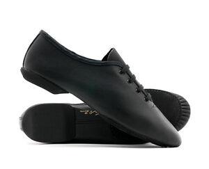 Mujer-Chica-Cuero-Negro-Doble-Suela-BAILE-Escenario-Jazz-Zapatos-de-Katz