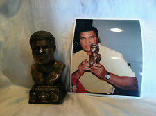 Collectible Vintage Muhammad Ali Bronze Bust/Statue & 8x10 picture