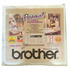 Brother Personal Fax 275 Amp Telephone With Roll Paper Thermal Fax New Open Box