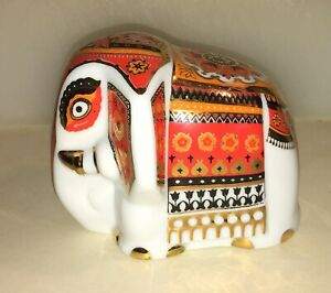 Dankotuwa-World-Class-Tableware-Red-Gold-Elephant-Porcelain-Figurine-Sri-Lanka