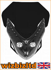 Motocross MX Twin Lights Spectre Fairing Headlight With Fixings HLUSPEBLK