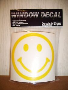 smiley face set of 2 WINDOW DECAL smile happy