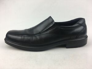 Ecco-Men-s-Bicycle-Toe-Slip-On-Loafer-Shoes-Size-EUR-47-Black-Leather-1313