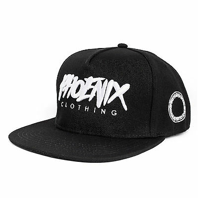 Phoenix Shadow Snapback Cap - All Black Hat Kappe Mütze New Baseball Schwarz