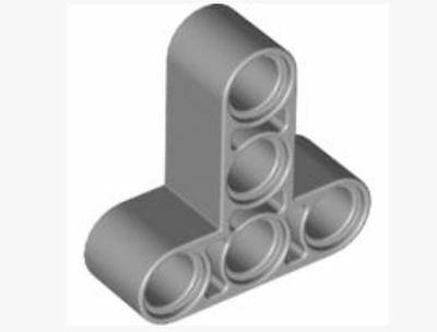 4552348  /_ LEGO T-beam 3x3 W//hole Ø4.8 60484 Lot of 3 /_Medium Stone Grey