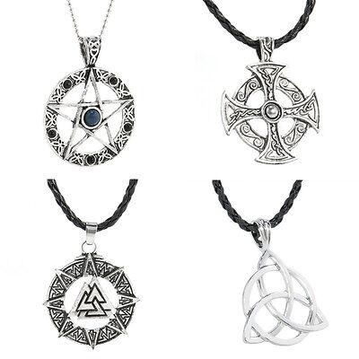 St Justin Pewter Pentagram Pentacle Star Pendant Necklace in Gift Box PN14