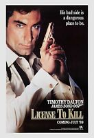 James Bond: License To Kill Timothy Dalton Advance Movie Poster 1989