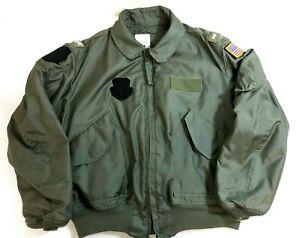Vintage Bomber Flyer/'s Jacket Fire Resistant XL Green Pilot CWU-45//P 46-48