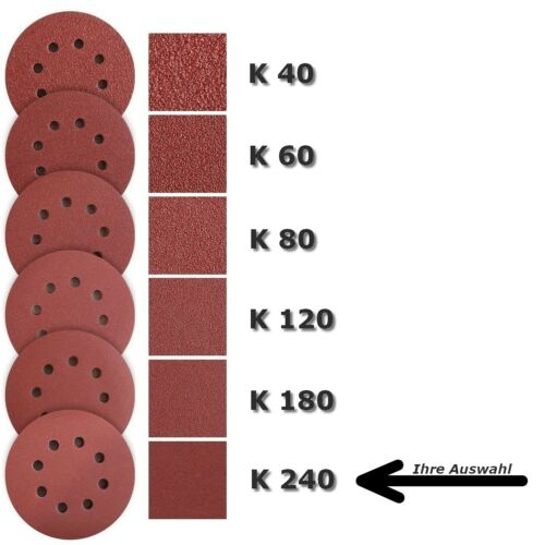 125mm, 8-Loch Schleifscheiben für Einhell TE-RS 18 Li Solo Exzenter-Schleifer