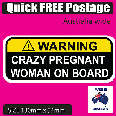 Car & Truck Parts Dependable Warning Pregnant Woman On Board Funny Sticker Vinyl Good Reputation Over The World