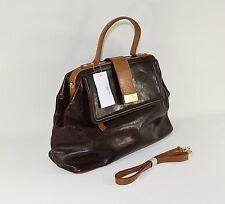 NEW Brown Leather PURSE Clutch Hand Bag Shoulder Bag Medium Women's Bag