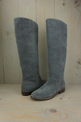 UGG DALEY GREY SUEDE TALL RIDING BOOTS