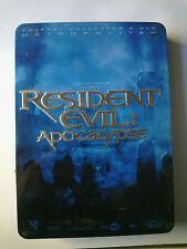RESIDENT EVIL APOCALYPSE STEEL BOX COFFRET COLLECTOR 2 DVD PAL