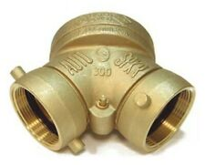 4 X 2 12 X 2 12 Brass Fdc Single Clapper Straight Fire Dept Connection