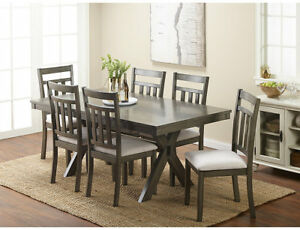 Image Is Loading New McLeland Design Giavonna Dining Table Gray Seats