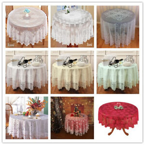 Round Table Cloth Cover Vintage Floral Lace Tablecloth Wedding Party Decor 180cm Ebay