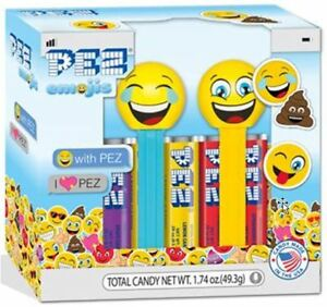 TITLE IS CORRECT! MINT ON CARD W/ CANDY EMOJI RAINBOW POOP PEZ