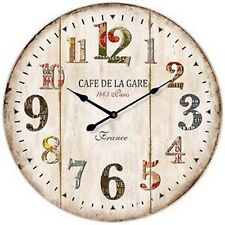 "Extra, Extra Large Retro Shabby Chic Wall Clock. 58cm Diameter (22"" +) 7086"