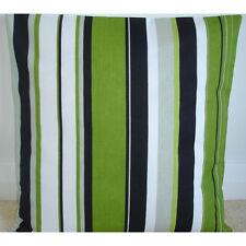 "NEW 20"" Cushion Cover Green Black Grey and White Stripes Lime Kiwi Stripe"