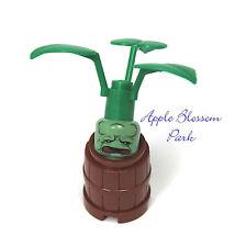 NEW Lego Harry Potter MANDRAKE PLANT -Minifig Sand Green Head in Pot/Barrel 5378