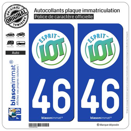2 Sticker Plaque Immatriculation Auto | 46 Lot - Tourisme