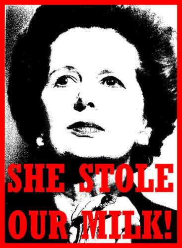 Hommes Femmes T Shirt politique Thatcher 80 S Royaume-Uni elle a volé notre lait Tory