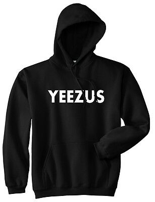 Kings Of NY Yeezus Black Pullover Hooded Sweatshirt Hoody Hoodie Black Grey NYC