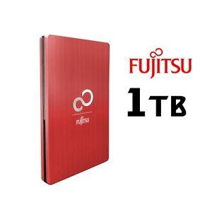 Fujitsu Slim Aluminum 1TB External 2.5 Portable Hard Drive HDD USB 3.0 Silver